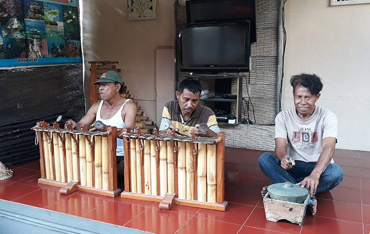 Playing Gamelan